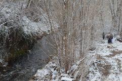 Nevada al Congost, a la Garriga, el febrer de 2018