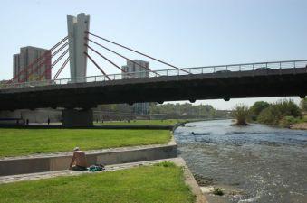 Parc Fluvial del Besòs. Pont de Can Peixauet a Santa Coloma de Gramenet