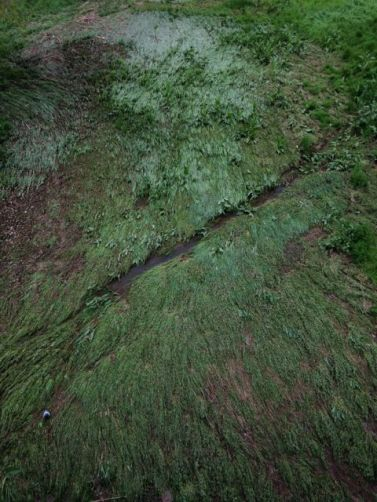 Llera del Congost a Granollers després de la pluja